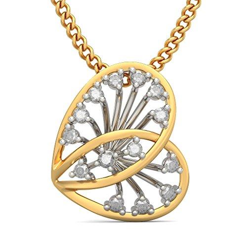 14K Or jaune 0.17CT TW Round-cut-diamond (IJ | SI) Pendentif