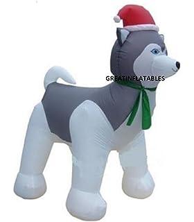 Amazon.com: Ghi - Papá Noel hinchable en trineo por Husky ...