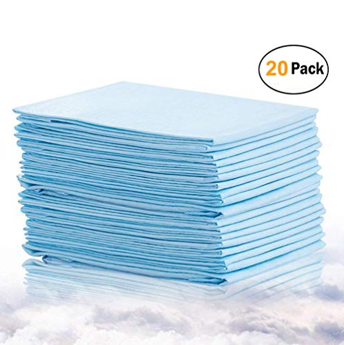 - Bocks Baby Disposable Changing Pads, 20 Pack Incontinence Bed Pad, Pet Training Pads Soft Waterproof Disposable Mat, Absorbent Sheets Underpad, Mattress Protector (1x20Pack)