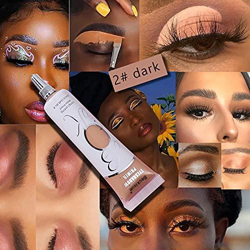 HXS Eyeshadow Makeup Primer, Liquid Eyeshadow Primer Matte Eyeshadow Primer Base,Prevent Oily Lids and Creasing,Waterproof Long Lasting Eyeshadow Primer, Makeup Gifts for Women 18ml