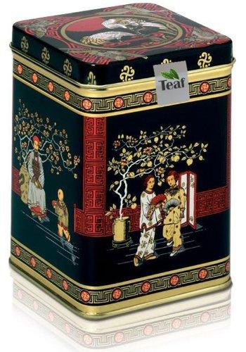 ARABIAN MARZIPAN DREAM - fruit tea - in a Black Jap Caddy - 77x77x100mm (75g) by TEAF