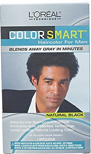 LOREAL Color Smart Haircolor for Men Natural Black (One Application)
