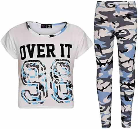 b985a4080004 A2Z 4 Kids® Girls Tops Kids Designer Over IT 98 Camouflage Print Crop Top  Legging
