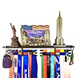 Medal Hanger Awards Holder Display Rack for 60 Medals Use for All Sports Black Steel Medal Hanger Holder,Race Medal Display Holder,Running Medal Hangers,Medal Trophy Holder Display