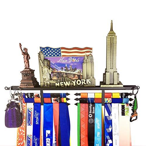 Trophy Award Pictures Medals Hanger Display Hanger Rack Shelf for All Sports,Wall Key Holder,Key Finder Solutions,Trophy hangerRace Award Pictures Medal Display Holder, Bonus Wrist Wallet Included