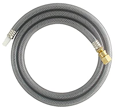 LDR 501 6300 Exquisite Replacement Side Sprayer Sink Hose with Universal Fit Adapter, 48-Inch