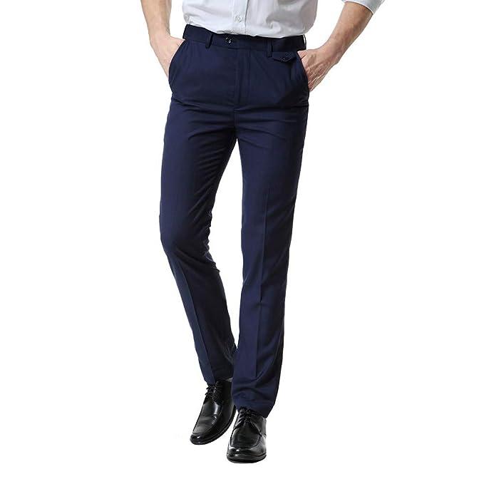 Oliviavan Pantalones para Hombre,Moda Simple Pantalón de Traje ...