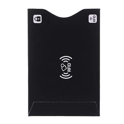 QR-ONCES 1Pc ID Cubierta de tarjeta de crédito Protector RFID Funda blindada Tarjeta de visita Tarjetas de presentación