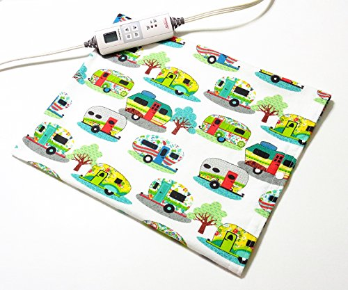 """Replacement Cover for 12"""" x 15"""" Heating Pad ~ Heating Pad Cover ~ Cover Only ~ Glamping Fun Print by Practical Things I Love"""