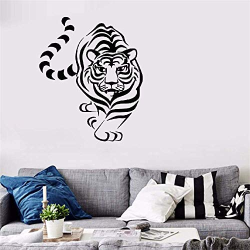 Funny-mural Quotes Vinyl Wall Art Decals Saying Words Removable Lettering Animals Tiger The King of Jungle Stickers for Nursery Kid Bedroom