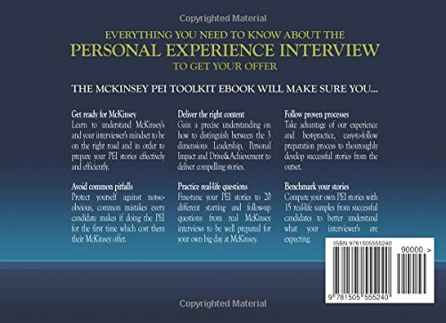 The McKinsey Personal Experience Interview Toolkit: How to
