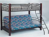Twin / Futon Convertible Bunk Bed with Wood Posts ADS8023