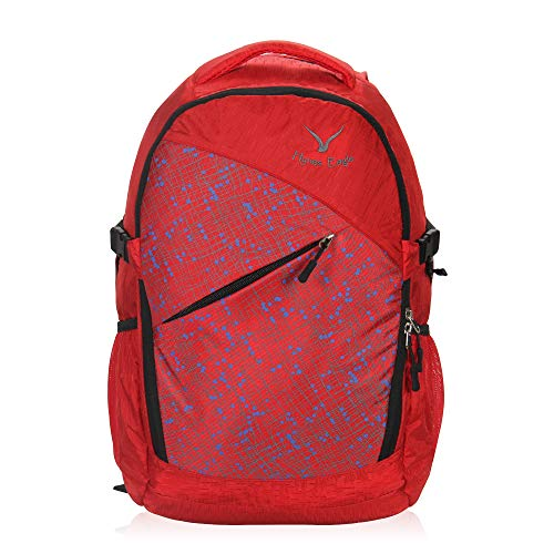 Travel Max Outdoor Daypack Laptop Backpack, Durable 25L Daily Carry Overnight Casual Bag with Laptop Sleeve,Business Backpack Fit 13.3 inch Computer,Men Women School Backpack(Red) (Laptop Outdoor)