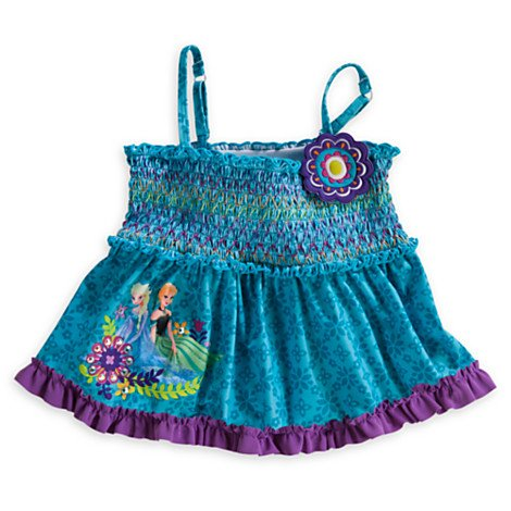 Anna and Elsa Tankini Swimsuit for Girls (2pc) Size 3