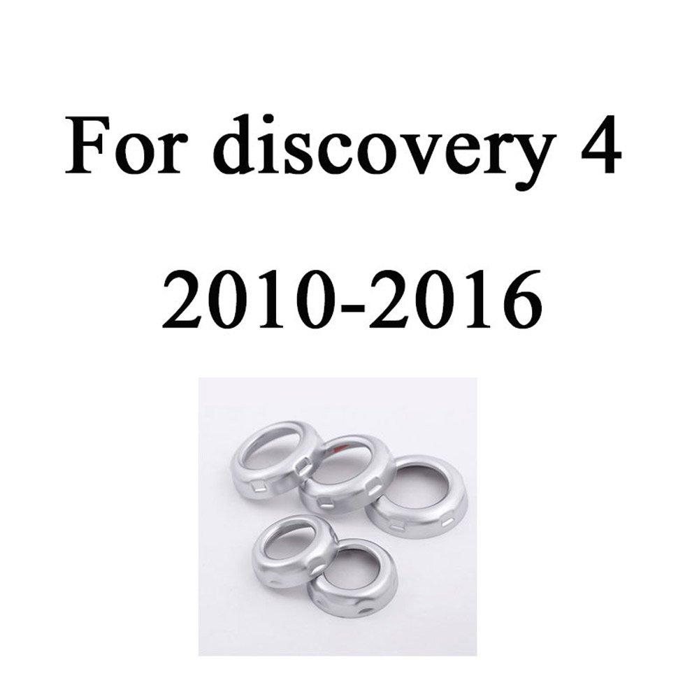 Decorazione cromata per manopola del volume e aria condizionata per LR Discovery 4/LR4/RR Sport Freelander 2 accessori e ricambi per auto 5 pezzi