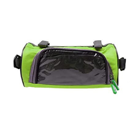 BUYERZONE WITH BZ LOGO Polyester Waterproof Universal Bicycle Smart Phone Pouch Handlebar Bag with Touch Screen Cover