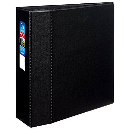 Avery Heavy-Duty Binder with 4-Inch One Touch EZD Ring, Black (79984)