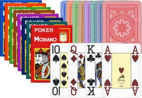 - Modiano Poker Cristallo Jumbo Index Plastic Playing Cards (Light Green)