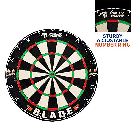 "Learn More About Dartboard Game with Mounting Brackets, 18"" by Rally and Roar - Bristle Dart Board..."