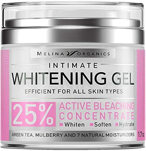 Skin Whitening Intim Gel - Natural Skin Care with Hyaluronic Acid, Lemon Essential Oil & Aloe Vera - Made in USA - Skin Bleaching Cream for Face & Intimate Areas & Armpits - Cream for Women - 1.7OZ