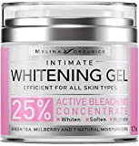 Whitening Cream for Intimate Areas - Made in USA - Potent Bleaching Cream with Arbutin (Glycosylated Hydroquinone), Hyaluronic Acid & Aloe Vera - Underarm Whitening and Intimate Bleaching - 1.7 Oz