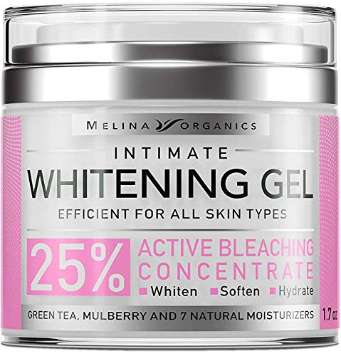 Skin Whitening Intim Gel - Natural Skin Care with Hyaluronic Acid, Lemon Essential Oil & Aloe Vera - Made in USA - Skin Bleaching Cream for Face & Intimate Areas & Armpits - Cream for Women - 1.7OZ (Best Cream For Uneven Skin)
