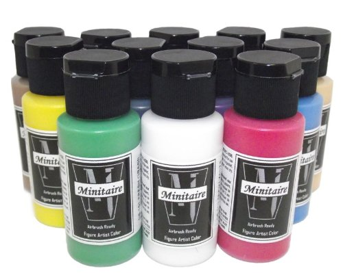 - Badger Air-Brush Company Minitaire 12-Color Paint Starter Set