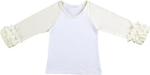 Personalized Little Princess Cotton Toddler Long Sleeve Ruffle Shirt Top