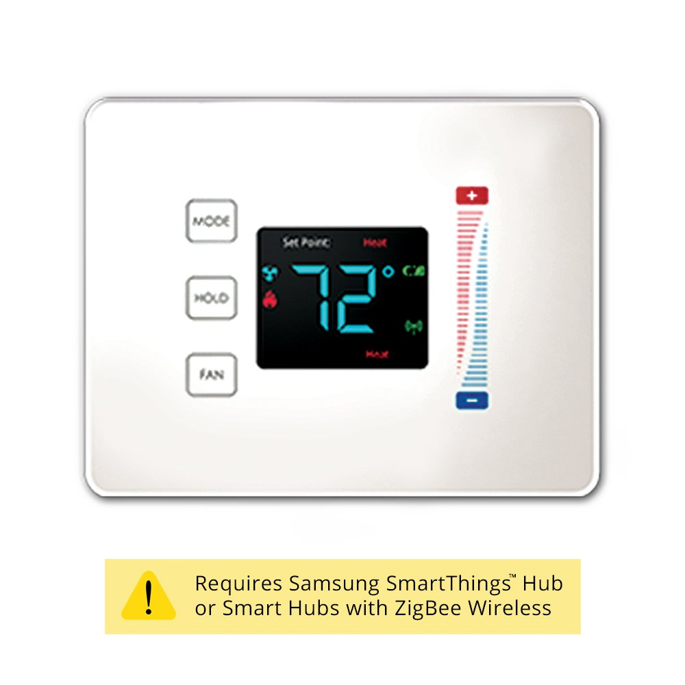 Centralite 3-Series Pearl Touch Thermostat, White by Centralite 3-Series (Image #1)