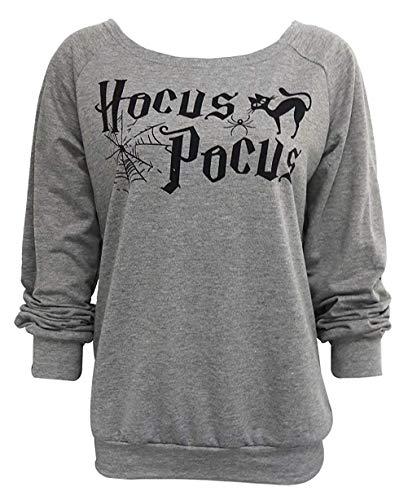 Print Funny Halloween Casual Women Pullover Hocus Sweatshirt