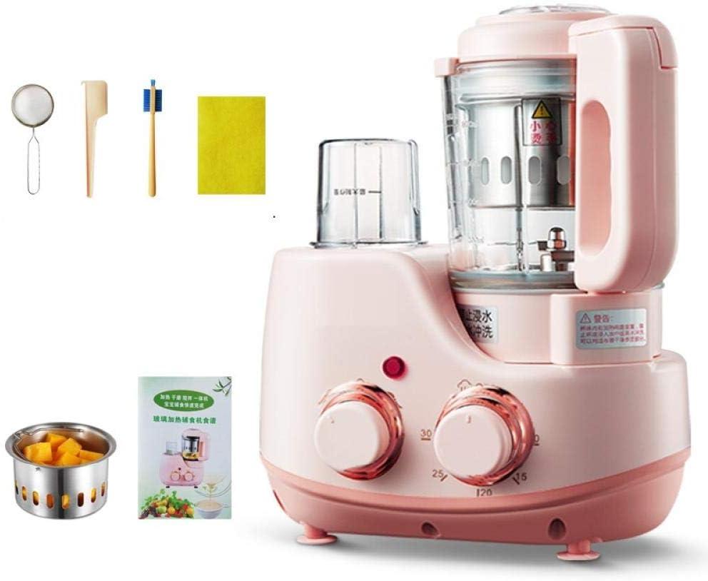 Suplemento de alimentos para bebés cocinar y mezclar molinillo de bebé jugo de vidrio cocinar puré de frutas triturador-Rosa: Amazon.es: Bebé
