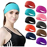 DASUTA Set of 10 Women's Workout Headband Non Slip Lightweight Multi Headbands Headscarf for Yoga Running Sports Travel…
