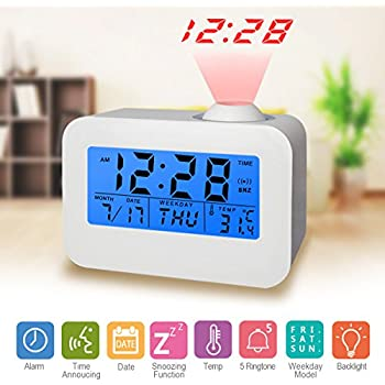 Amazon digital alarm clock led digital alarm clock ceiling digital alarm clock led digital alarm clock ceiling clocks display time date week and mozeypictures Gallery