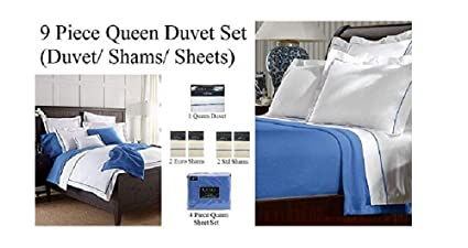 Amazon.com: 9 Pc Duvet & Sheet Set- Ralph Lauren Home French ...