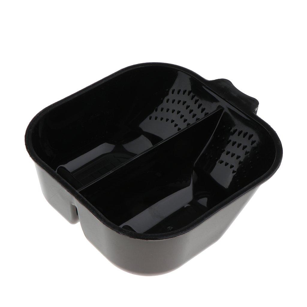 Baoblaze 2 Grids Hair Dye Bowl - DIY Hair Color Mixing Bowls / Salon Hairdresser Dye Tint Bowl with Handle Black