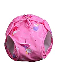 [Pink] Reuseable Baby Swim Diaper Lovely Infant Swim Nappy Swimwear