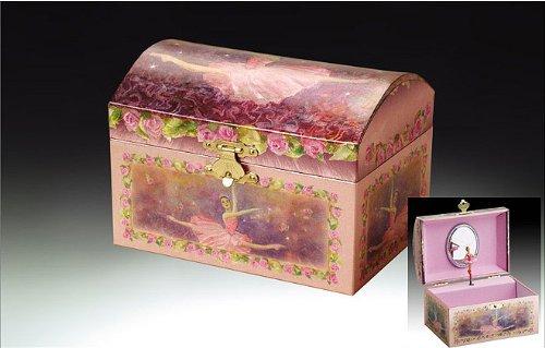 Childrens Purple Musical Music Box Jewelry Music Box Spinning Dancing Ballerina Drawer-Tune is Swan Lake
