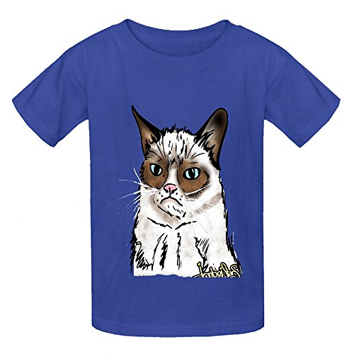Price comparison product image Chas Grumpy Cat Teen Crew Neck Cotton Tees Blue