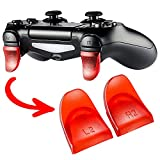 eXtremeRate Clear Red 2 Pairs L2 R2 Buttons