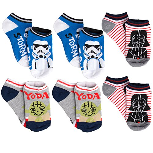 Planet Sox (6 Pack) Kids Socks No Show Disney Star Wars Socks Youth Low Cut Athletic For Girls Boys for $<!--$7.99-->