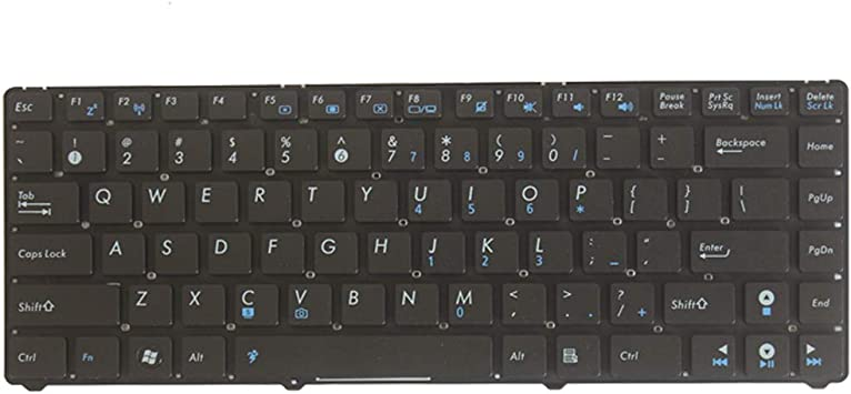 Laptop Replacement Keyboard Fit Asus Eee PC 1225B 1225C 1215N 1215P 1215T US Lyaout