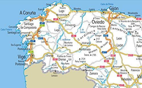 España carreteras mapa – Vinilo – A0 tamaño 84,1 x 118.9 cm ...