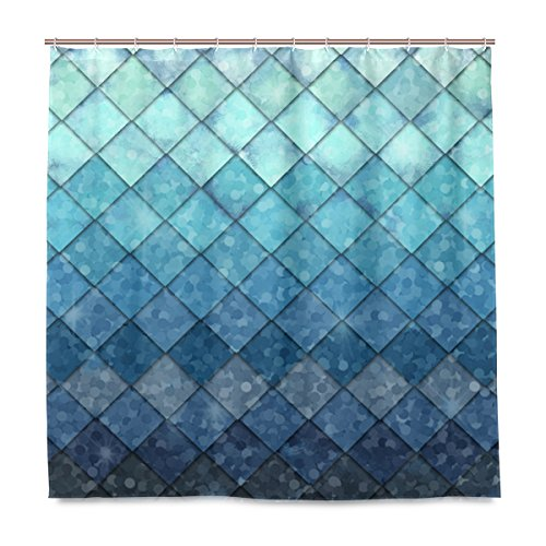 Teal bathroom sets with shower curtain and rugs
