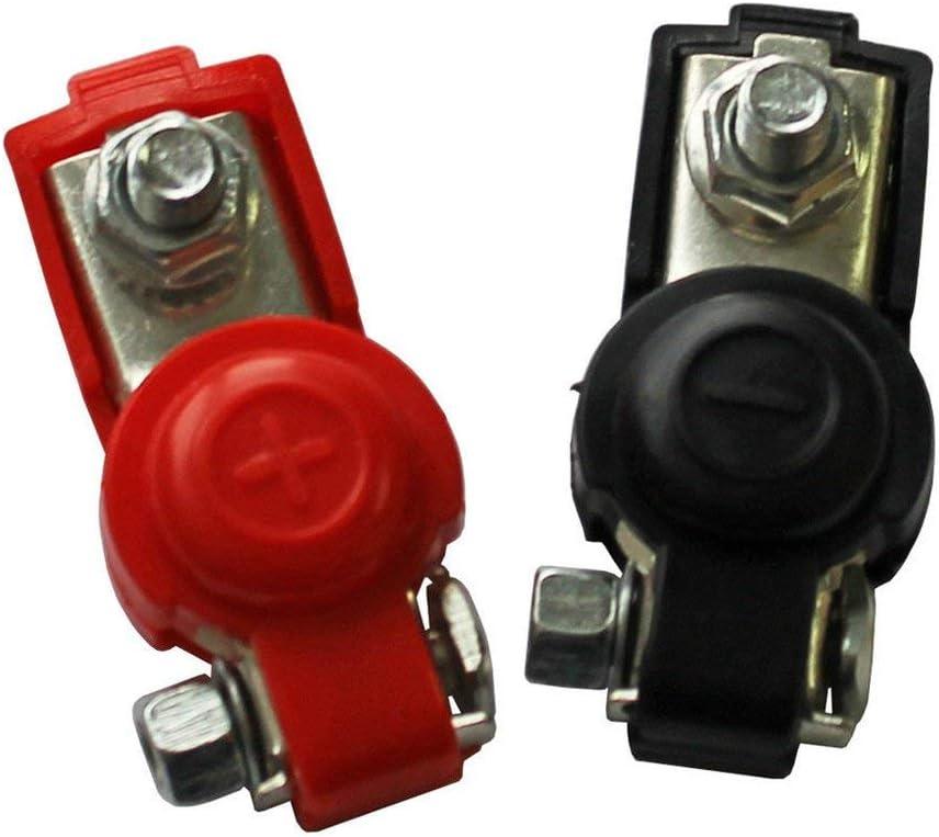 2 morsetti a sgancio rapido per batteria terminali per batteria auto 6-12 V Leoboone colore nero e rosso