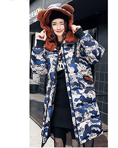 Veste Plus Duvet en Camouflage Femme Longue Section SwtxqaTa