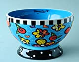 Romero Britto Ceramic Ice Cream Bowl — Flowers Design