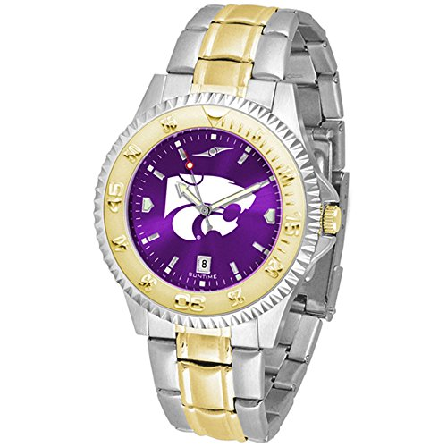 Kansas State Wildcats Competitor Two-Tone AnoChrome Men's Watch - Kansas State Wildcats Watch