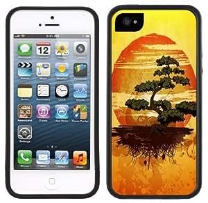 Bonsai Tree Japanese Handmade iPhone 5 Black Bumper Plastic Case