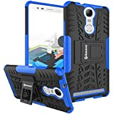 Bracevor Shockproof Lenovo Vibe K5 Note Back Case Cover Rugged Hybrid Kickstand Defender - Blue