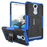 Bracevor Shockproof Lenovo Vibe K5 Note Hybrid Kickstand Back Case Defender Cover - Blue